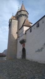 l'entrée du château d'Aigle