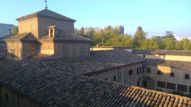 Vue de ma chambre sur l'église Augustinas Recoletas.