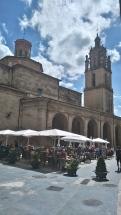 La terrasse du café de Los Arcos, où tout le monde me connait...