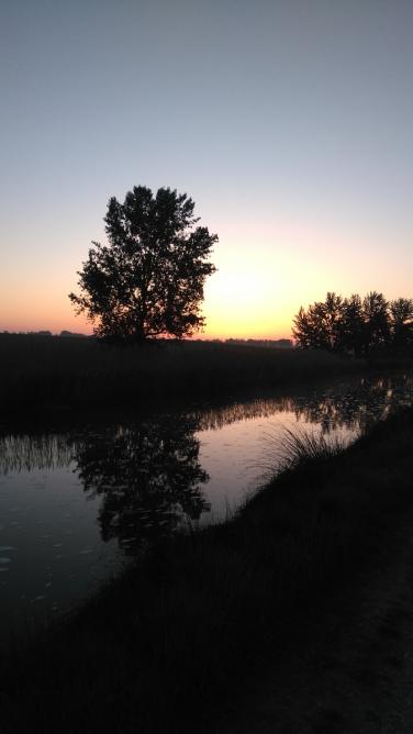 Lever du soleil sur le canal