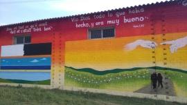 Hangar agricole, après le stage de graffiti mural?