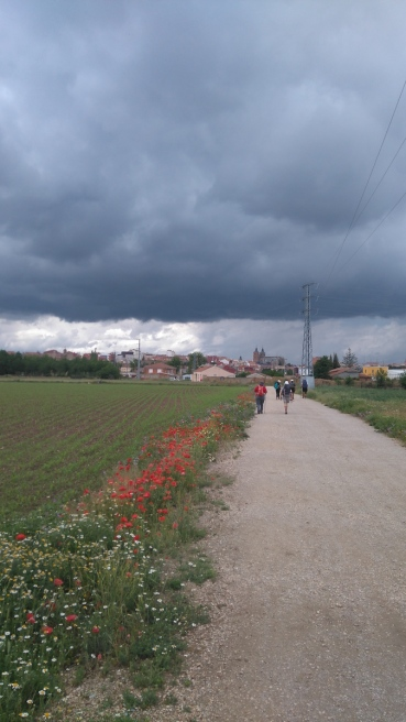 L'orage arrive sur la ville