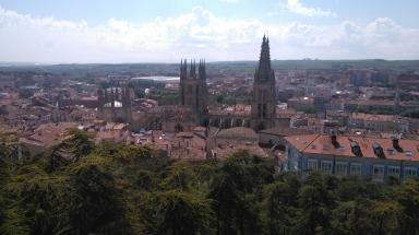 Burgos, vue du Castillo